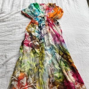 Gorgeous multi colored maxi dress